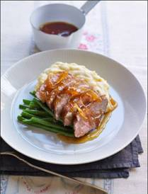 Duck breast with celeriac mash