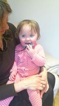Sophia and her Gumigem jewellery teether