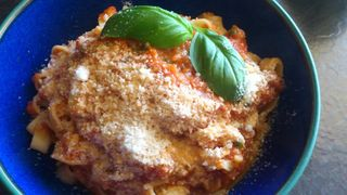 Roasted Red Pepper and Tomato Pasta